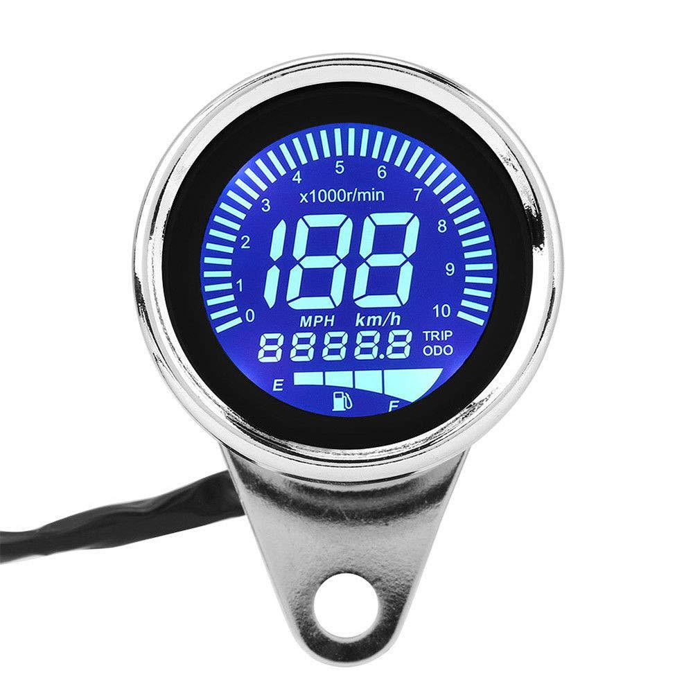 Universal Motorcycle LCD Screen Speedometer Odometer Tachometer Fuel Gauge for Most Popular 12V Motorbike Odometer image