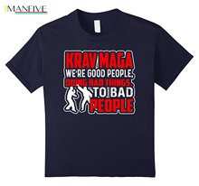 цена на 2019 Fashion Hot Sale Krav Maga Shirt - Krav Maga Good People T shirts Tee shirt