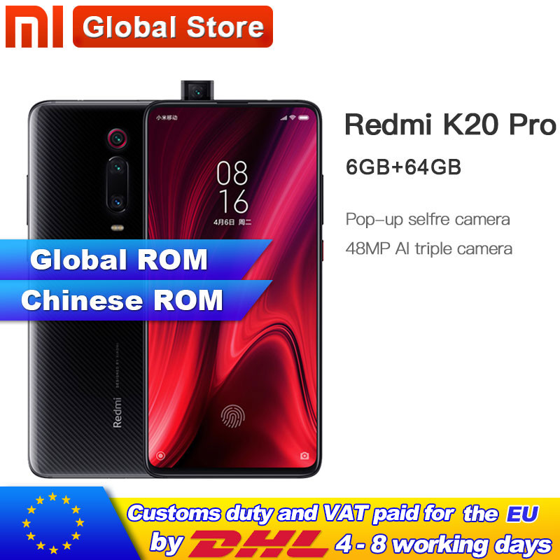 "Global ROM Xiaomi Redmi K20 Pro  64GB ROM 6GB RAM Phone Octa Core Snapdragon 855 4000mAh  Front 48MP Rear Camera AMOLED 6.39""-in Cellphones from Cellphones & Telecommunications"