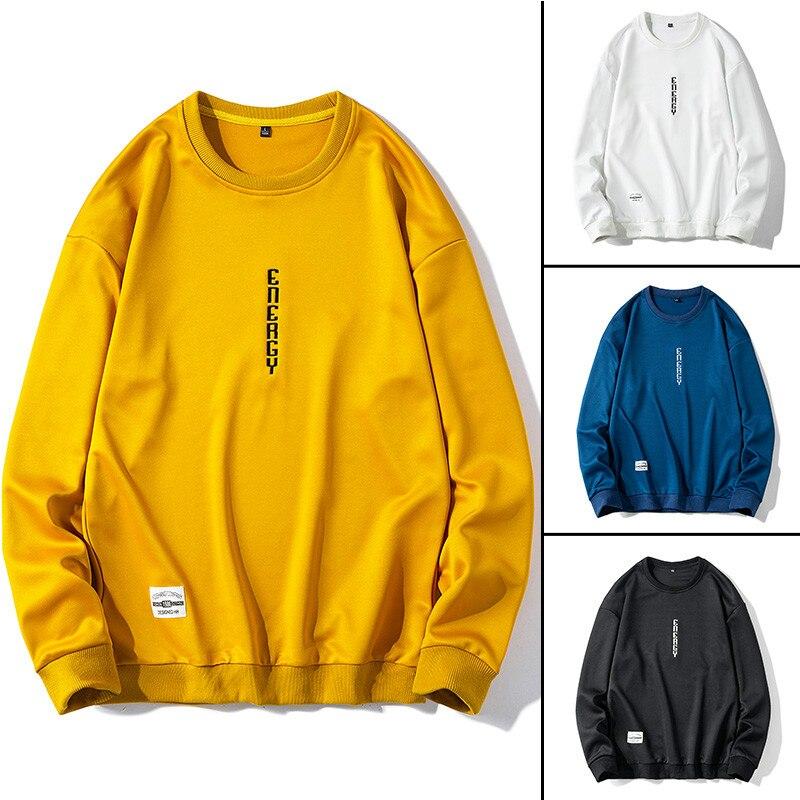 2020 Men's Hoodies Sweatshirts For Men Hip Hop Pullover Solid Color Male Clothing Streetwear Long Sleeves Hoodies Spring Fashion