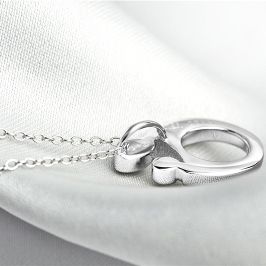 YFN Gerçek 925 Ayar Gümüş Kolye Kolye Anne Bebek Desen Kolye - Kostüm mücevherat - Fotoğraf 3