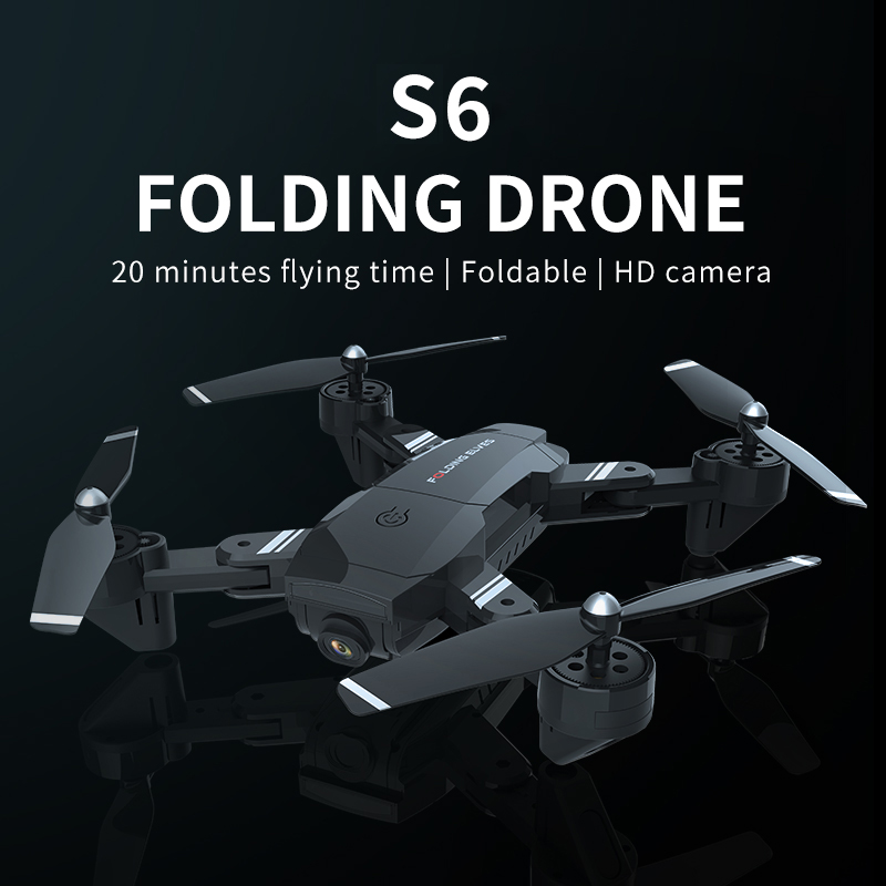 Drone S6 Folding Uav Hd Model Aerial Photography Remote Control Aircraft Four Axis Aircraft Children's Toys Rc Quadcopter Drone