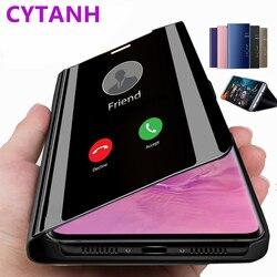 Mirror Case For Xiaomi mi 9t 9 t a2 lite Xiomi Xaomi Redmi Note 7 k20 pro Red Mi go Note 6 5 Pro 6A Y1 s2 Flip book stand Cover
