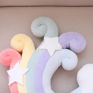 Image 5 - תינוק צבעוני Creative כרית ילדי חדר קישוט מפרץ חלון כרית קשת מעטפת כוכב כדור Cartoon ילדים נוחות כרית