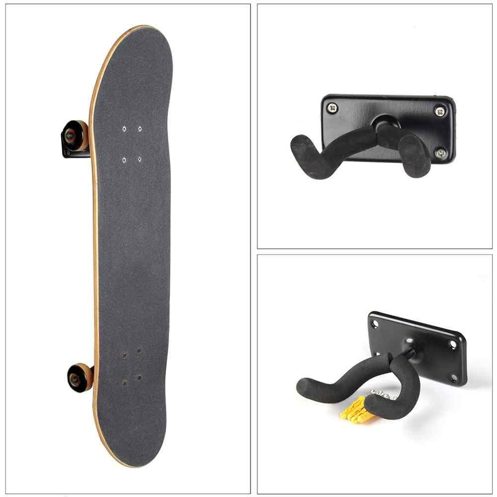 耐久性のあるウォールマウントスケートボードデッキマウント水平ハンガーラック安定したと頑丈なロング収納ディスプレイラック