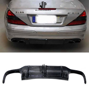 R172 AMG Style Carbon Fiber Rear Lip Diffuser Car Styling For Mercedes-Benz SLK Class R172 SLK200 SLK300 Car Body Kit 2012-2015