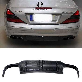 R230 High Quality Carbon Fiber Rear Lip Diffuser Car Styling For Mercedes-Benz SL Class R230 SL500 SL600 Car Body Kit 2007-2012