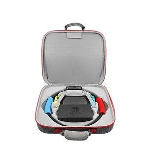 Image 3 - EVA taşınabilir sert kabuk koruyucu depolama taşıma çantası büyük kapasiteli fermuarlı çanta nintendo anahtarı konsolu için/Dock/Fitness halka