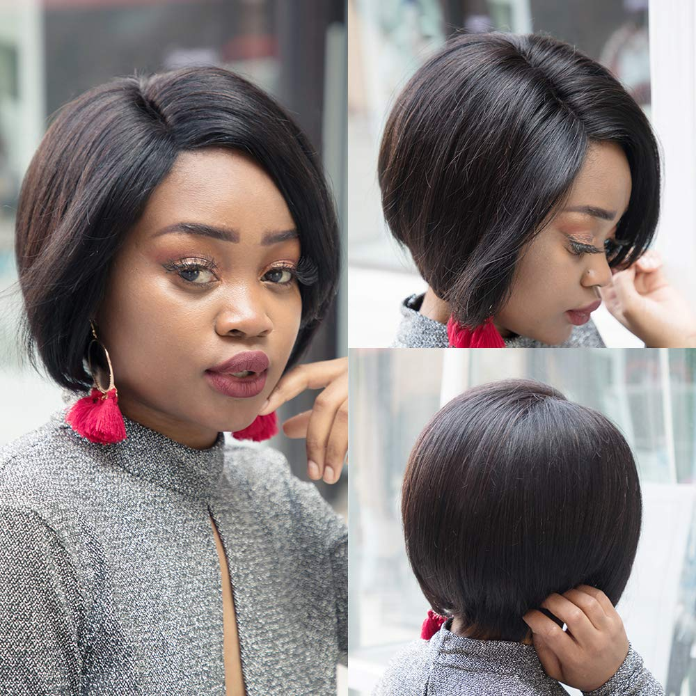 Pixie Cut Wig Human Hair Wigs Short Straight Hair Bob Lace Front Wig Invisible Lace Front Human Hair Wig Cheap Lace Wig