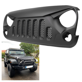цена на Car Front Grille Mesh Grill For Jeep Wrangler JK Sports Sahara Freedom Rubicon 2007-2018 Auto Accessories Black