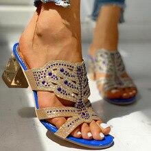Karinluna Large Size 41 Crystals Slip On Leisure Summer Sandals Shoes