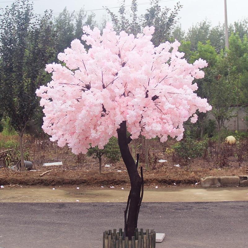 20 piezas Rama de cerezo Rosa cereza decoración boda arco flor de cerezo actividad fiesta melocotón árbol flor Rama - 4