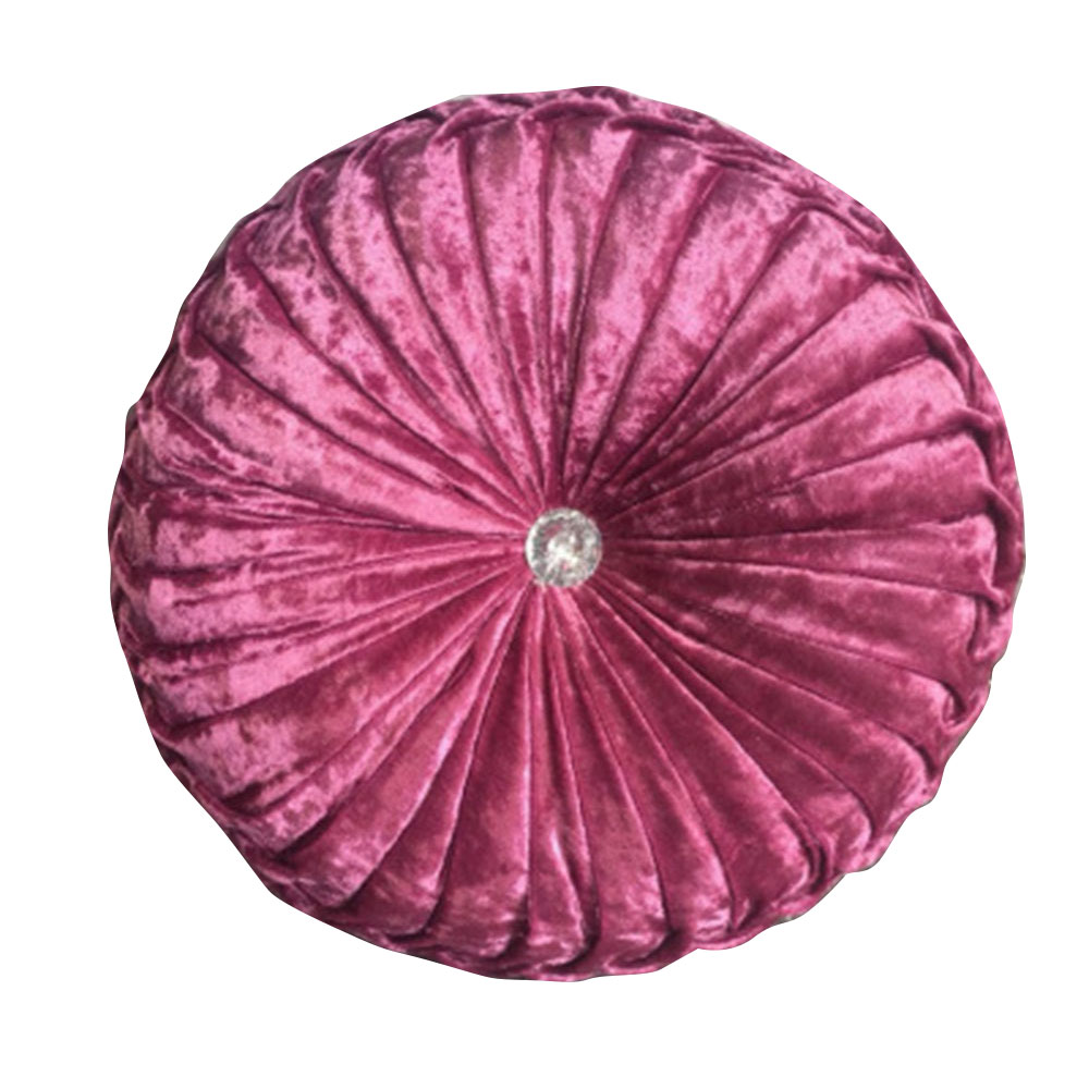 Estilo europeu redonda cadeira de pelúcia almofada algodão almofada de assento de abóbora para pátio casa escritório do carro piso travesseiro inserção tecido veludo