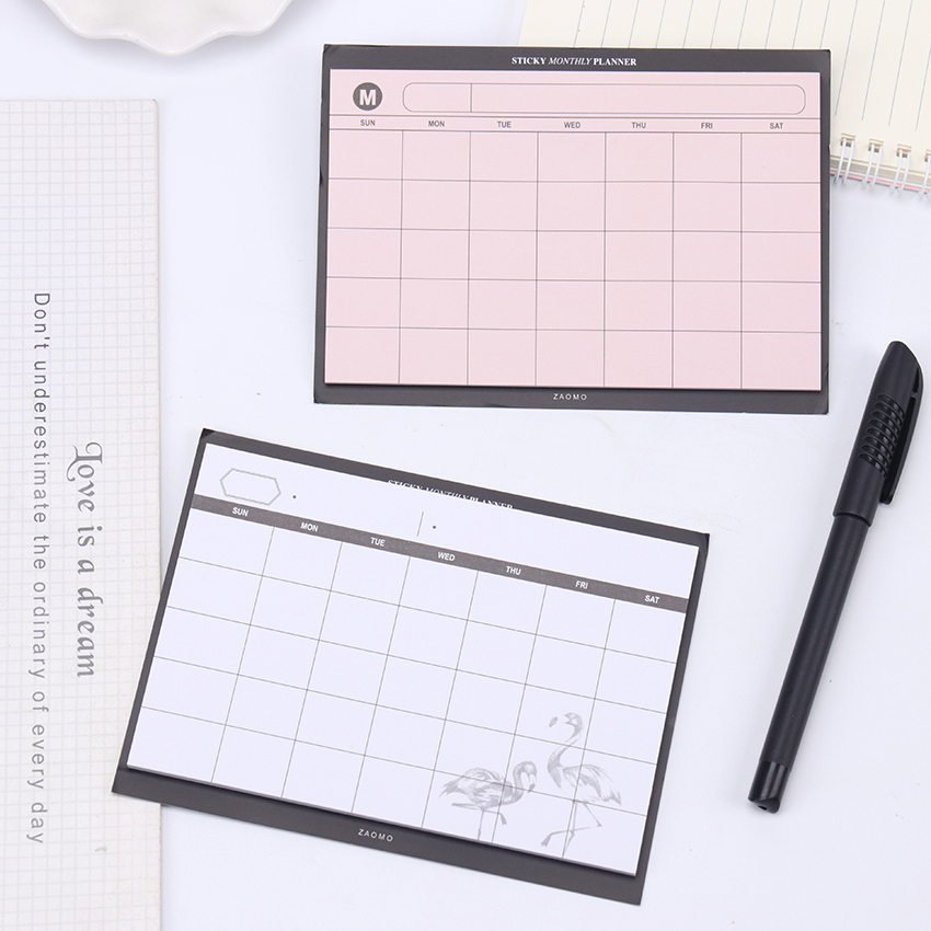 30 Sheets Creative Desktop Schedule Can Tear Diary Plan Notebook Paper Stationery Student Diary Memos Office Supplies