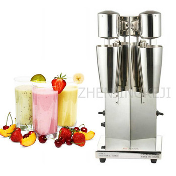 110V/220V Double-head Milkshake Machine Electric Stainless Steel Commercial Mixing Milk Froth 300W Tea Blender