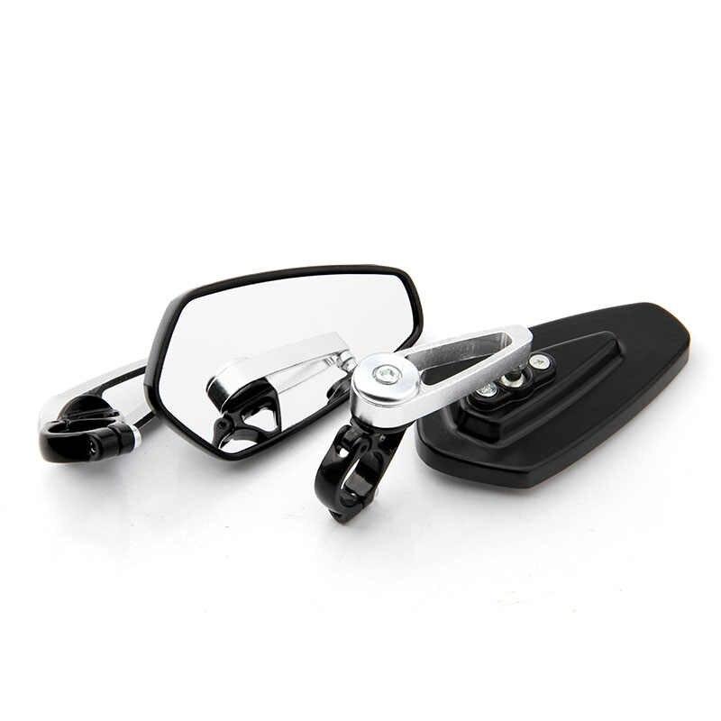 Pasangan Handel Bar Berakhir Motor Cermin Stang Berakhir Belakang Cermin Sisi Cermin untuk Kawasaki Z800 Z750 Z1000 Z650 Z900 Z300
