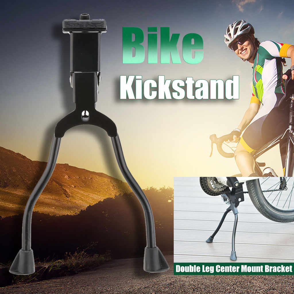 Mountain Bike Kickstand 26/'/' Bicycle Aluminum Kick Stand Double Leg Center Mount