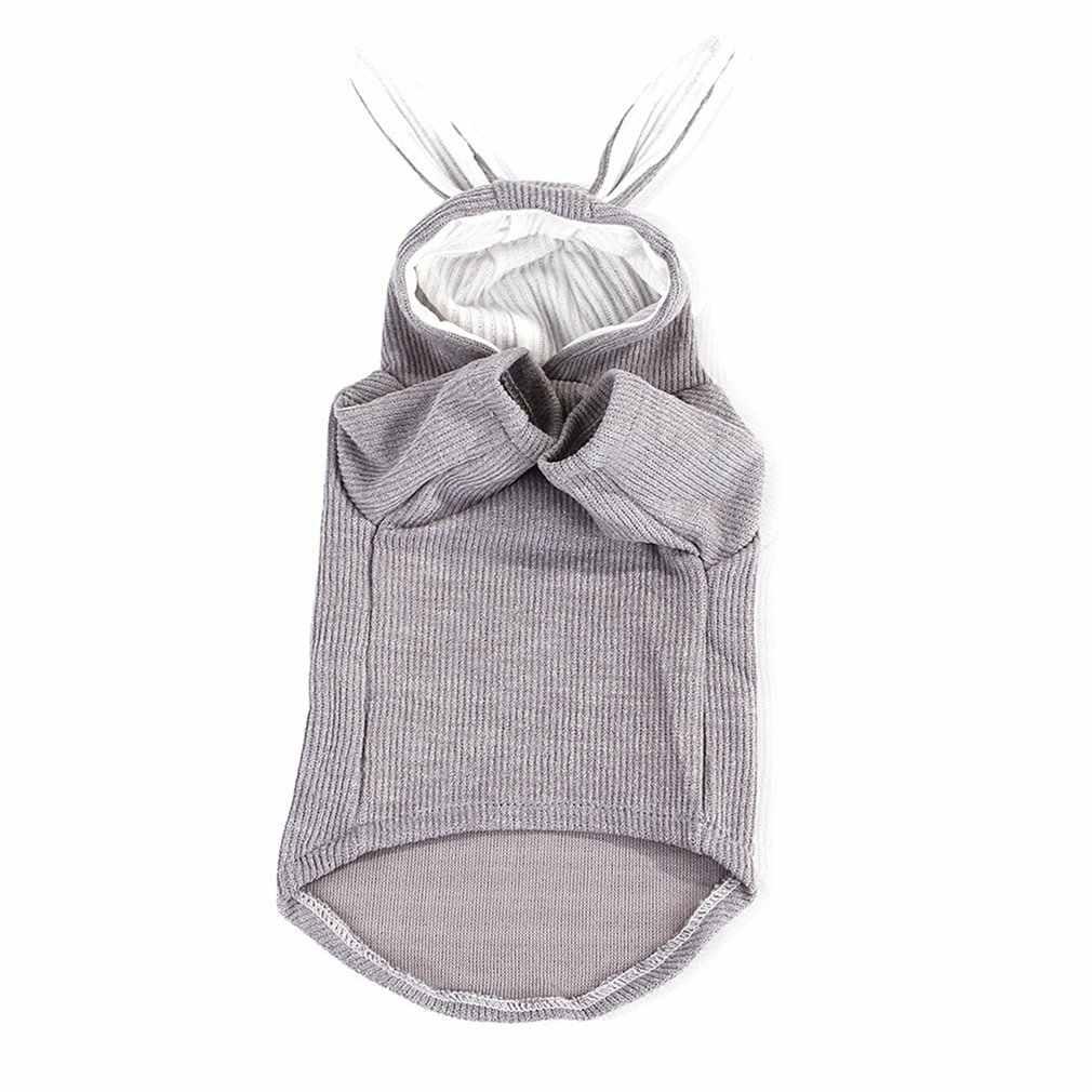 Ropa de cachorro con capucha ropa de mascota bulldog francés ropa de punto para perro pequeño conejo oreja gato ropa abrigo chaqueta suéter de invierno