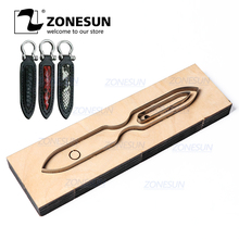 ZONESUN S002 Custom Leather Key Chain Die Cuts For Handmade Key Cover Key Fob Hang Decoration Cutting Clicker Die Steel Rule Die