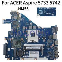 Laptop motherboard Para ACER Aspire 5742 5733 5742Z KoCoQin 5733Z MBR4L02001 Mainboard MB. R4L02.001 PEW71 LA-6582P HM55