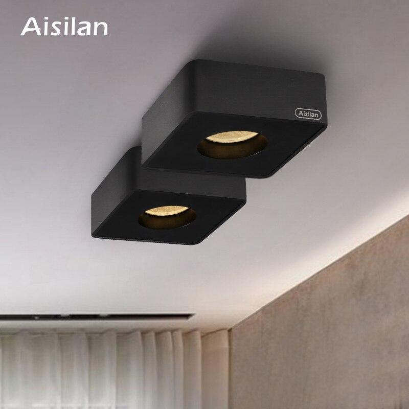 Aisilan светодиодный ультра тонкий поверхностного монтажа вниз светильник без главного светильник потолочный Точечный светильник квадратных...