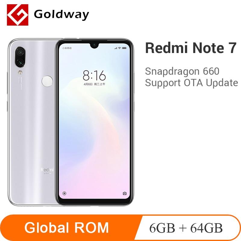 Global ROM Xiaomi Redmi Note 7 6GB RAM 64GB ROM teléfono móvil Snapdragon 660 Octa Core 48MP Cámara Dual 4000mAh 6,3 pantalla completa