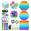 Cute Bag Pops Fidget Toys Toy Reliver Stresstoy Rainbow Push Bubble Popp Simple Dimmer Antistress Sensory Poppit Kids Toy