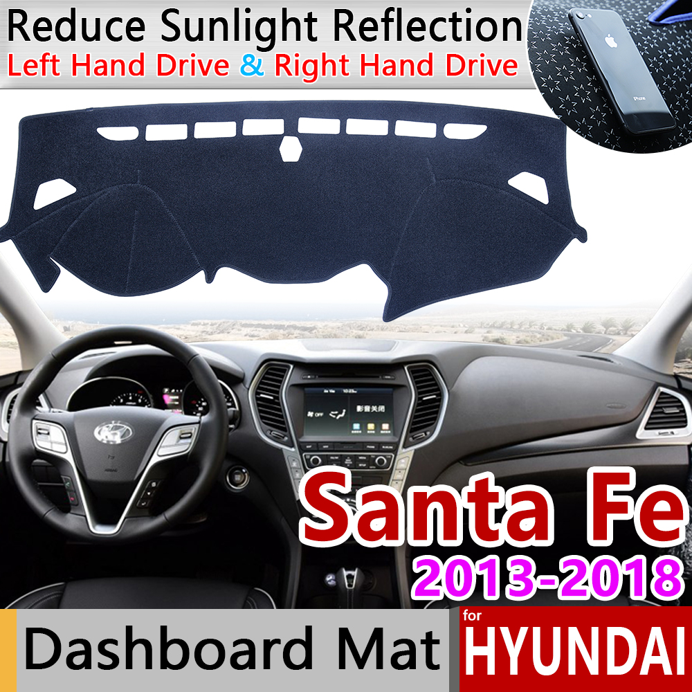 For Hyundai Santa Fe 2013 2014 2015 2016 2017 2018 DM IX45 Anti-Slip Mat Dashboard Cover Pad Sunshade Dashmat Carpet Accessories