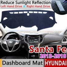 Für Hyundai Santa Fe 2013 2014 2015 2016 2017 2018 DM IX45 Anti-Slip Matte Dashboard Abdeckung Pad Sonnenschirm dashmat Teppich Zubehör