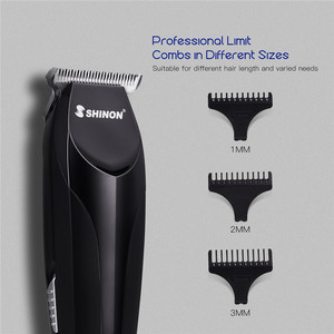 Image 5 - Cordless Men Micro Hair Trimmer Home Barber Razor Bald Head Shaving Machine Personal Care Tool with Wide T blade Limit Combs