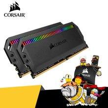 CORSAIR – mémoire de serveur d'ordinateur de bureau, modèle Dominator RGB platine, modèle DDR4, capacité 2x8 go 32 go 64 go 16 go 3000 go 3200 go 3600 go 4800MHz 128 go