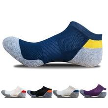calcetines ciclismo Мужские с глубоким вырезом спортивные носки хлопковые Компрессионные носки для бега профессиональные беговые баскетбольные велосипедные носки Походные спортивные носки