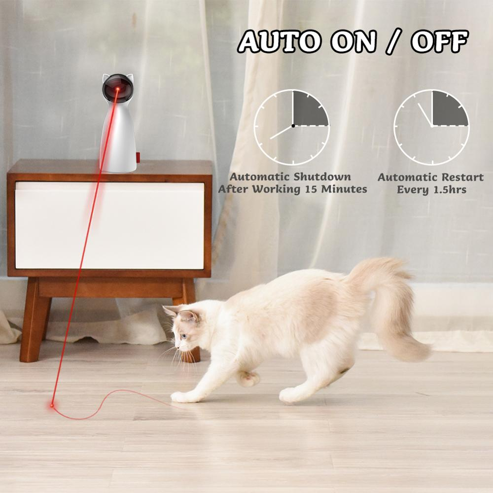BENTOPAL Interactive Cat Laser Toy Pet Laser Pointer for Cats and Dogs Automatic Rotating Catch Training