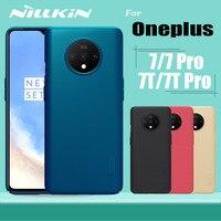 Oneplus 7T Pro étui Oneplus 7 Pro housse Nillkin givré mat bouclier dur PC téléphone couverture complète housses pour One Plus 7T Pro
