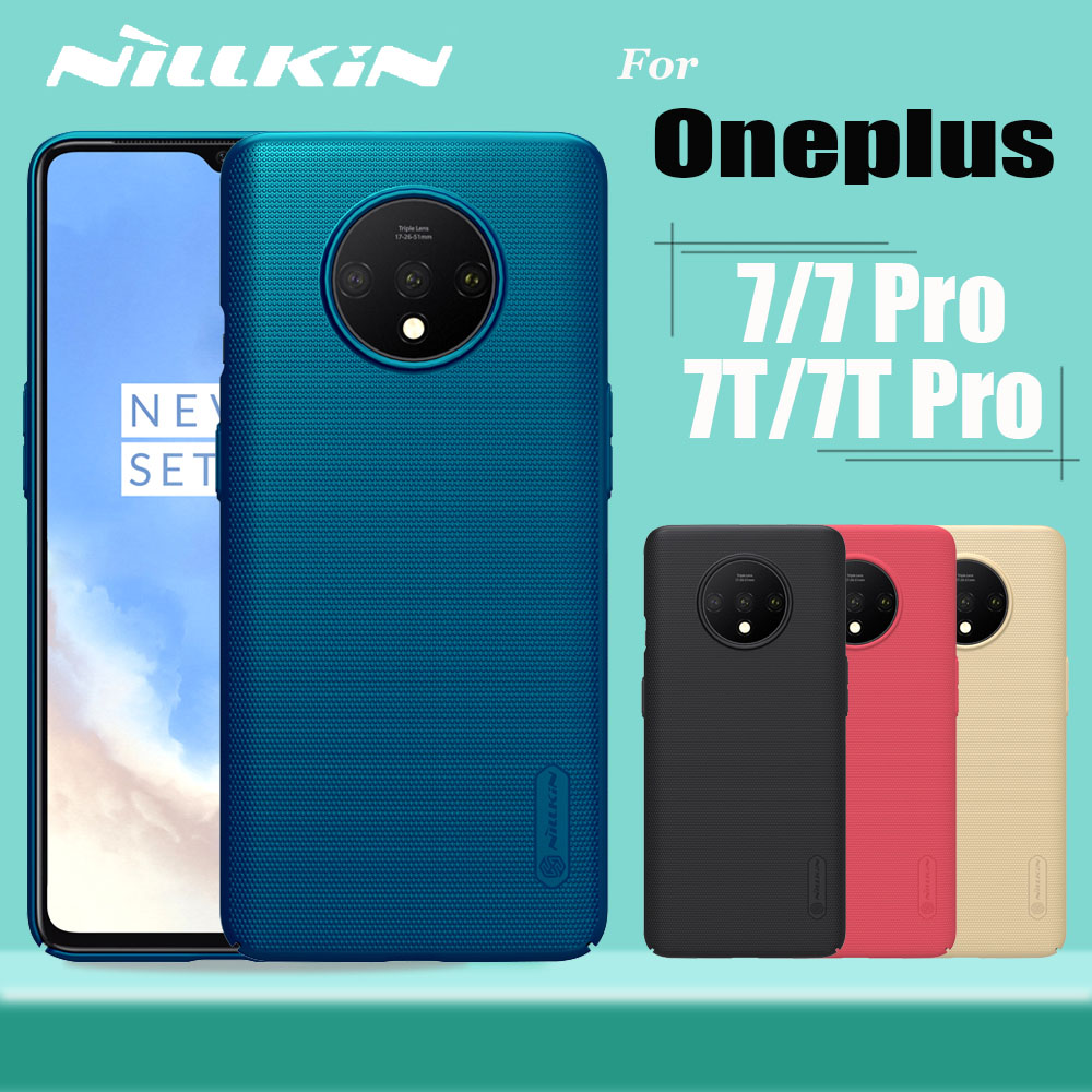 Oneplus 7T Pro Case Oneplus 7 Pro Case Cover Cover Nillkin Frosted Matte Shield Hard PC Հեռախոս Ամբողջ ծածկույթի պատյաններ One Plus 7 7T Pro- ի համար