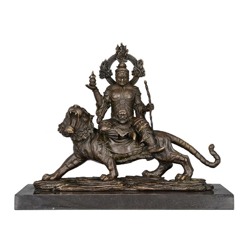 ATLIE BRONZI Religione scultura statue di buddha Vaisravana Bishamon decorazione in bronzo di Buddha Tibetano Sconfinata saggezza dio