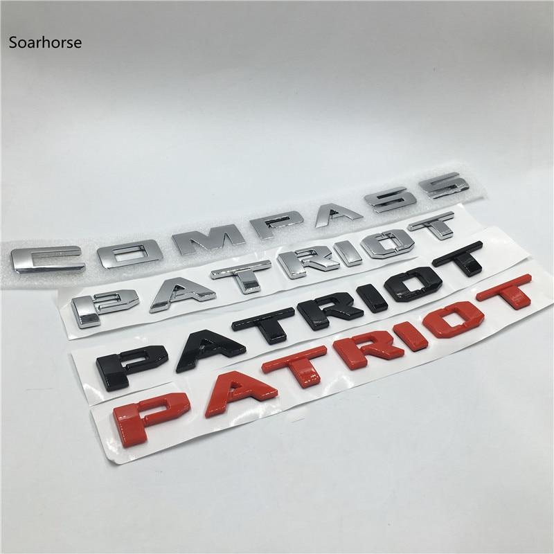 Наклейки с логотипом на дверь автомобиля и боковое крыло для Jeep Patriot компас с эмблемой