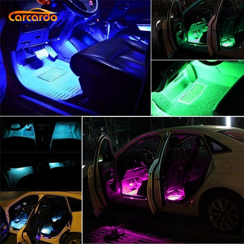 Carcardo Car LED Atmosphere Neon Light Lamp LED Wireless Remote Multi Color RGB Strip Car Interior Lighter in Decorative Lamp from Automobiles Motorcycles