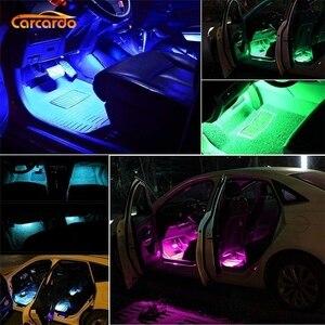 Image 4 - Carcardo Car LED Atmosphere Neon Light Lamp LED Wireless Remote Multi Color RGB Strip Car Interior Lighter