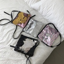 Personality Sequin Bucket Bag Women Shoulder Bags fashion Laser Totes Ladies Messenger Crossbody Panelled Leather Purses