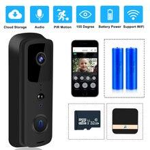 ZILNK واي فاي الجرس 1080P HD فيديو إنترفون جرس باب لاسلكي كاميرا المنزل الذكي رصد الأشعة تحت الحمراء للرؤية الليلية APP التحكم عن بعد