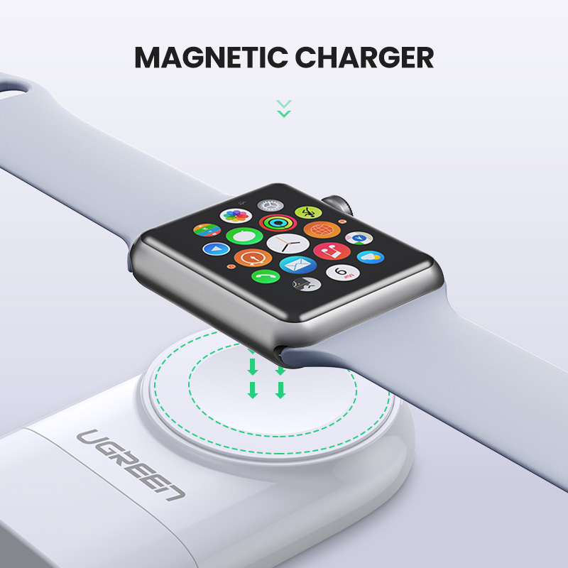 Image 3 - Ugreen Wireless Charger for Apple Watch Charger Series 5 4 3 2 1  Portable MFi USB Charger For Apple 3 Magnetic Wireless ChargingMobile  Phone Chargers