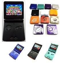 IPS LCD مجددة ل Game Boy SP ل GBA SP وحدة التحكم مع iPS الخلفية الخلفية LCD وزارة الدفاع وحدة التحكم و 5 مستويات السطوع