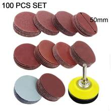 100pcs 2Inch Sandpaper 80-3000 Grit Round Shape Sanding Discs Buffing Sheet Sander Polishing Pad for Drill Grinder Rotary Tools