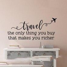 Настенный декор для путешествий-Виниловая наклейка для путешествий-Дорожная фотография-путешествие единственное, что вы покупаете, что де...