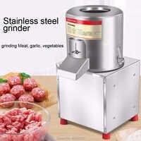 Roestvrij Staal Vleesmolen knoflook Chopper Automatische Elektrische Vleesmolen groente Machine Huishoudelijke of Commerciële Keukenmachine