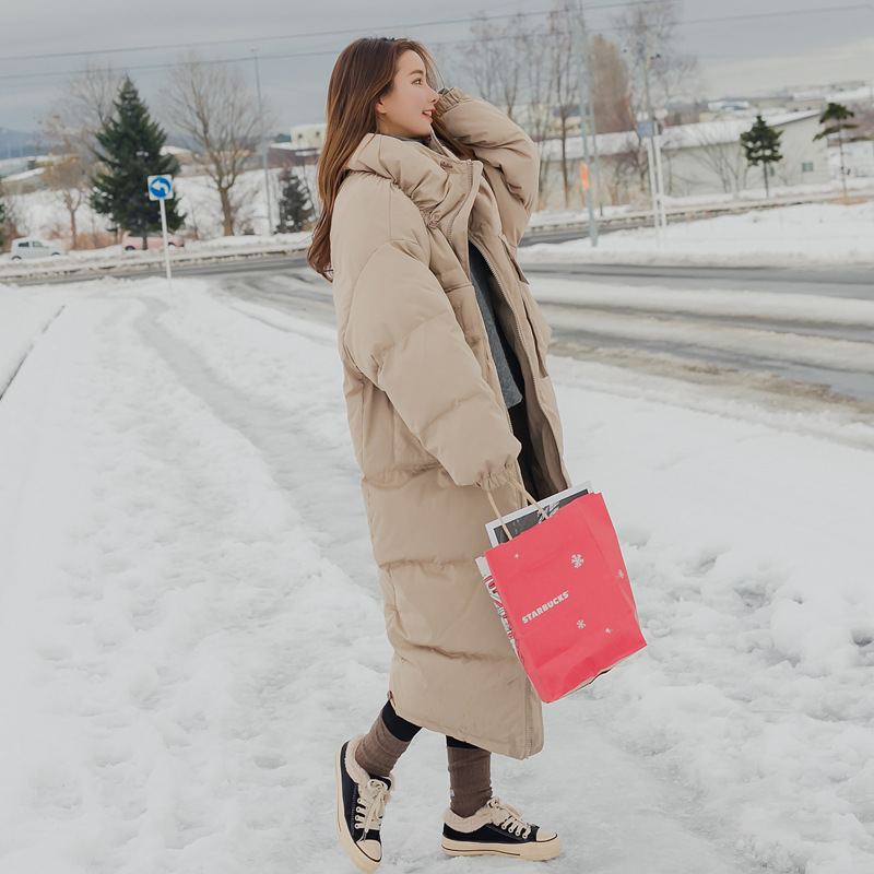 Main Push Big Goods 2017 Winter New Style Korean-style WOMEN'S Wear Thick Long Cotton-padded Clothes