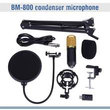 Studio Condensator Microfoon Kit Microfoon Arm Stand Anti-Shock Mount Mic Standhouder(China)