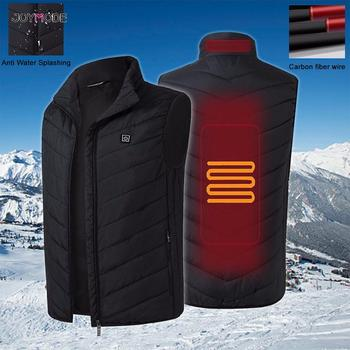 JOYMODE Men Outdoor USB Infrared Heating Vest Jacket Winter Flexible Electric Thermal Clothing Waistcoat Fishing Hiking Dropship 2