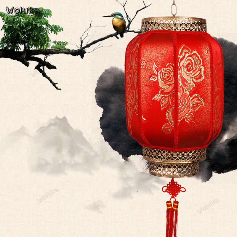 Chinese Traditional Big Red Lantern PVC Silk Indoor Outdoor wedding New Year Chinese Spring Festival Decoration Lantern CD50 W05